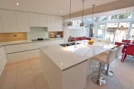 white kitchen island with breakfast bar white gloss kitchen breakfast bar kitchen and decor