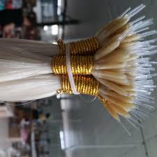 Keratin Tipped Hair Extensions by Vrigin Nano Ring Plastic Stick Tip Keratin Hair Extension Long