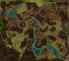 Gw2 World Map by Harathi Hinterlands Map Guild Wars 2