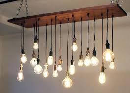 Edison Bulb Pendant Light Fixture Reclaimed Barn Wood Chandelier