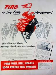1948 fire the fifth horseman vintage advertisement firefighter