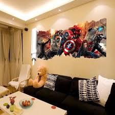 chambre marvel 2pcs set mural stickers de marvel pour chambre d enfants home