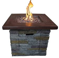 rectangle propane fire pit table loon peak davey stone propane fire pit table reviews wayfair