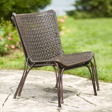 Weatherproof Wicker Patio Furniture - hampton bay arthur all weather wicker patio stack chair 2 pack