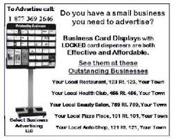 Business Card Measures Sample Newspaper Ads