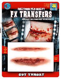 halloween prosthetic mask tinsley transfers cut throat 3d fx amazon co uk toys u0026 games
