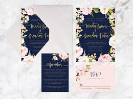 Blank Wedding Invitation Kits Best 25 Blue Wedding Invitation Sets Ideas On Pinterest Navy