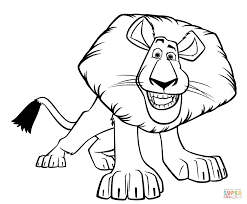 alex the lion coloring page coloring home