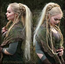 viking braided hairstyle viking celtic medieval elven
