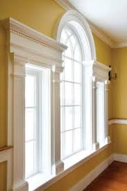 home design palladian window with white paint crown molding and