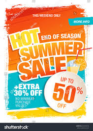 summer sale template banner bright colors stock vector 642550528