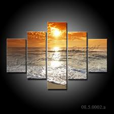 Canvas Without Frame 2017 No Wooden Frame Large Beauty Sea And Sun Modern Wall Art
