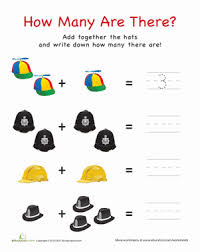 how many are there hats worksheet education com