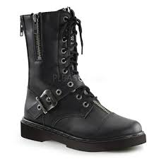 lace up motorcycle riding boots side zipper combat boots