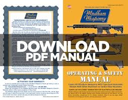owner manuals windham weaponry online ar 15 manufacturer