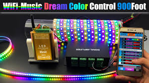 music led strip lights how to connect dream color music wifi controller to control 1 000ft