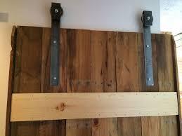 How To Hang A Barn Door by Pallet Sliding Barn Doors 5 Steps