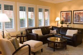 accent chairs for brown leather sofa brown leather sectional family room contemporary with accent