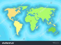 Wallpaper Designs For Kids World Map Kids Wallpaper Design Vector Stock Vector 487320418
