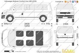 volkswagen multivan 2015 the blueprints com vector drawing volkswagen multivan comfort