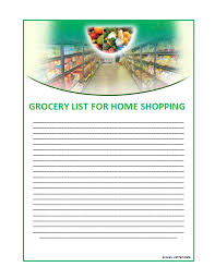 doc 431560 shopping list template word u2013 free printable grocery