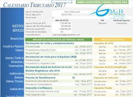 vencimientos renta personas dian 2016 actualizado calendario tributario 2017 dian 2017 gm h