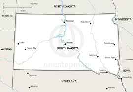 Map Of Sd Vector Map Of South Dakota Political One Stop Map