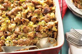 bread stuffing thanksgiving sausage and apple stuffing recipe king arthur flour