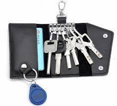 steel key rings images Luxury leather key card wallets bags men women portable stainless jpg