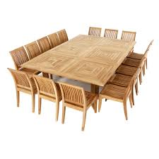 Good Quality Teak Product Large Teak Dining Set For 16 People Teak Furniture Dining Sets