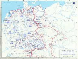 Germany On Map by Allied Battle Lines In Germany From 19 April To 7 May 1945