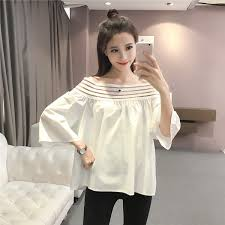 shoulder blouse korea fashion shoulder top 11street malaysia blouses