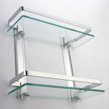 Glass Shelves For Bathroom Wall Glass Shelf For Bathroom Wall My Web Value