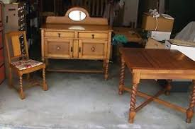 antique draw leaf table antique english oak barley twist draw leaf table 4 matching chairs