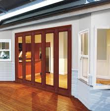 Custom Patio Door Rows Of Wood Bi Parting Sliding Patio Doors And Fixed Windows