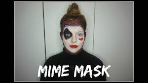 mime mask halloween tutorial rachmac youtube