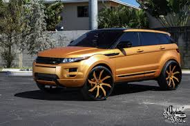 matte gold range rover range rover evoque u2013 26 u2033 forgiato u0027s by tate design worldofwhips