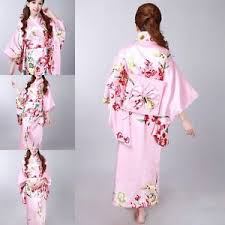 beautiful colourful japanese yukata robe kimono obi geisha women