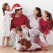 santa matching family pajamas the company store