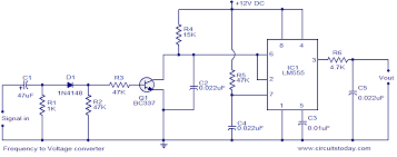f to v converter circuit using lm555 timer ic