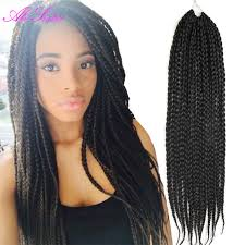 crochet hair extensions black color box braids hair crochet hair extensions mega hair