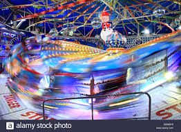 waltzer funfair ride at the winter in hyde park