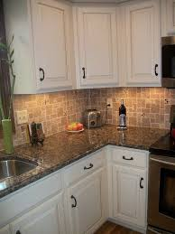 Modern Kitchen Countertops And Backsplash White Kitchen Cabinets Baltic Brown Granite Countertop Tile