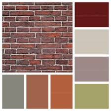 exterior house colors with red brick interior design