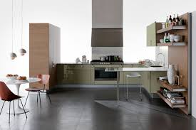 Sage Green Kitchen Ideas - sage green gloss kitchen units interior design ideas
