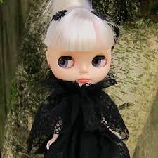 spider web cape halloween costume collar for blythe u0026 pullip dolls