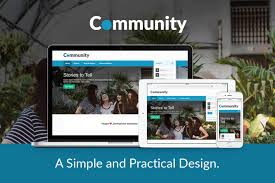 Library Colors Community A Simple Social And Practical Joomla Template