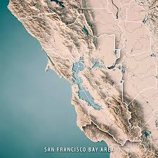 San Francisco Topographic Map by San Francisco Bay Area Usa 3d Render Topographic Map Neutral