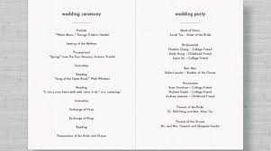 ceremony order for wedding programs wedding ceremony program outline tbrb info