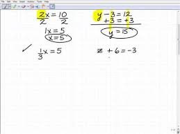 how to solve basic equations first step to understand algebra